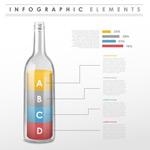 玻璃瓶商务信息图