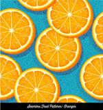橙子切片无缝背景