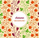 秋季叶子无缝背景