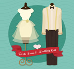 婚礼婚纱和西服