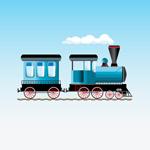 卡通蒸汽火车