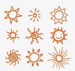 9款手绘太阳