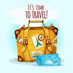 行李箱和飞机票