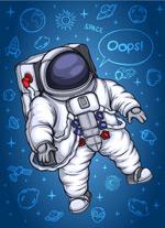 卡通宇航员矢量