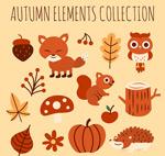 秋季动物和植物