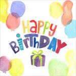 气球生日祝福卡