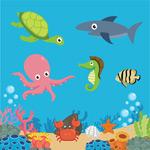 海底世界动植物