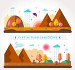 秋季山边风景