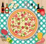 披萨和原料