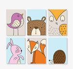 可爱动物卡片