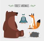 可爱坐姿动物