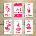 6款甜品卡片