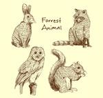 逼真手绘动物