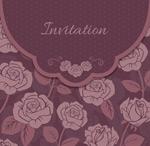 紫色玫瑰请柬