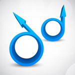 蓝色圆环箭头