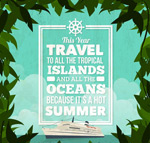 夏季游轮度假海报