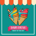 水果冰淇淋海报