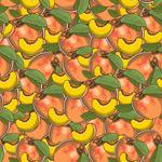 彩绘桃子无缝背景