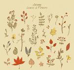 彩绘秋季叶子