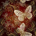 蝴蝶与花纹刺绣
