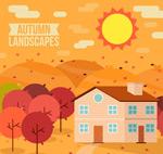 秋季郊外房屋