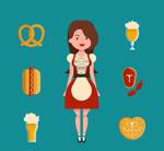 啤酒节女郎