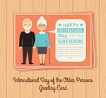 国际老年人日贺卡