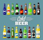 瓶装冰镇啤酒