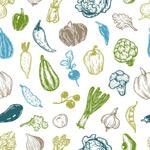 手绘蔬果背景