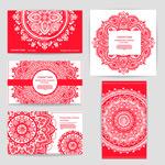 印度花纹卡片