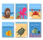夏季动物卡片