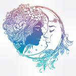 女子和月亮头像