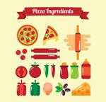披萨原料矢量