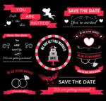 红色婚礼装饰元素