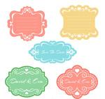 花纹婚礼标签