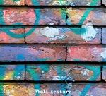 水彩涂鸦砖墙背景