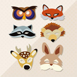 卡通动物面具