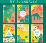 彩色秋季卡片