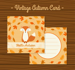 秋季狐狸卡片