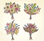 彩绘美丽花束