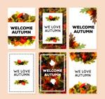 秋季落叶卡片