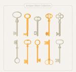 扁平化老式钥匙