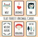 森林动物元素卡片