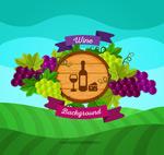 农场葡萄酒矢量