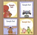动物留言卡片