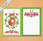 森林动物信纸