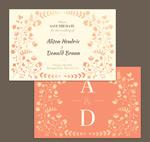 装饰婚礼邀请卡