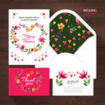 精美花卉婚礼卡片