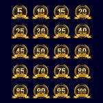 周年纪念数字标签