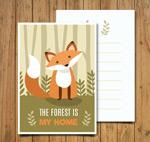 森林狐狸卡片